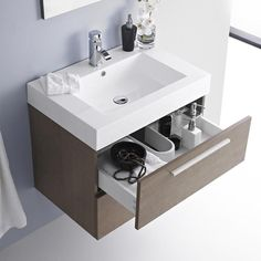 £207.00, Relax Oak Wall Mounted #Bathroom 2 Door #Cabinet & 1TH Basin