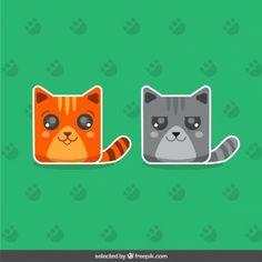 Dwie urocze koty naklejki