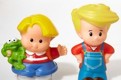The new dolls, such as Eddie, right, are taller, thinner and less babyish than before,...