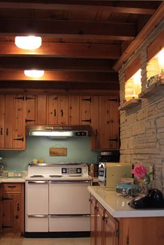 teal kitchen cabinets 1950s knotty pine kitchens pine kitchen kitchen 2683
