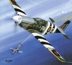 North American P-51 Mustang Mk III. Kapitan Eugeniusz ,,Dziubek'' Horbaczewski 315 Dywizjon Myśliwski ,,Dębliński'' Francja 1944.