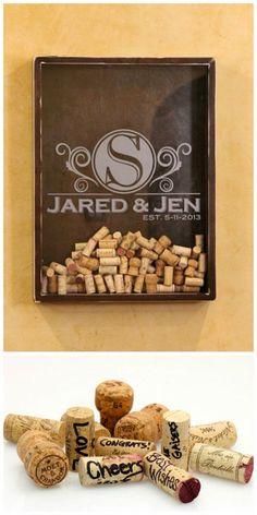 Awesome wine cork guest book #wine #wedding #halfbottles http://www.halfbottles.com.au
