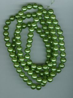 8mm Olive Green Glass Pearl Round Beads by RockNBeads on Etsy, $4.00