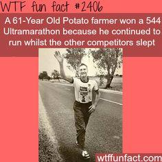 A 61-Year Old Potato farmer wins a 544 ultramarathon - WTF fun facts