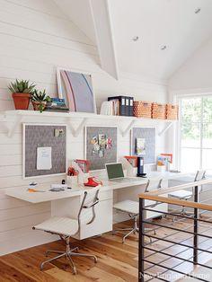 Bright, cheery children's workspace