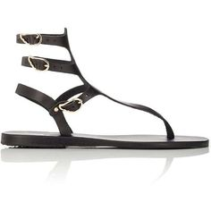 Ancient Greek Sandals Women's Themis Gladitor Sandals ($179) ❤ liked on Polyvore featuring shoes, sandals, black, leather sandals, flat gladiator sandals, greek leather sandals, thong sandals and gladiator sandals