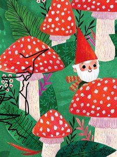 Toadstools & Gnome