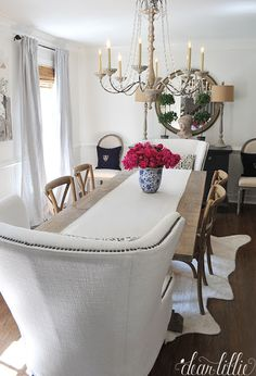 Dear Lillie: Peonies in Dining Room and a Sale Room Makeover, Room, Dining Room Makeover, Cozy House, Room Decor, Dining Room Decor, Dear Lillie, Modern Farmhouse Dining Room, Shabby Chic Living
