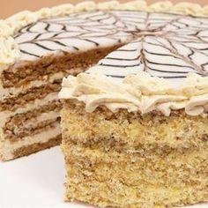 Hungarian Desserts, Hungarian Cake, Hungarian Recipes, Dobos Torte Recipe, Fun Desserts, Dessert Recipes, Sweet Cakes, Winter Food, Cheesecake Recipes