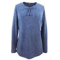 Camiseta mujer punto azul lazo