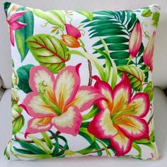 Artisan Pillows Indoor 20-inch Tommy Bahama Botanical Glow Tangelo... ❤ liked on Polyvore featuring home, home decor, throw pillows, tropical accent pillows, tropical home decor and tropical throw pillows