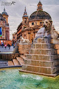 fontana di Piazza del Popolo, Roma - 02 | Photo & PP : Photo… | Flickr