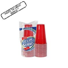 Large plastic cups are great for any event A must-have for parties, picnics, and potlucks! 16-oz. size holds a ton and means less refills for your guests Perfect for sodas, beer, iced teas, cocktails, and so much more 16-ct. of 16-oz. red plastic party cups.