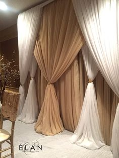 Birthday Room Decorations, Stage Decorations, Prom Backdrops, Pipe And Drape, Backdrop Design, Curtain Designs, Drapes Curtains, Interior, Party