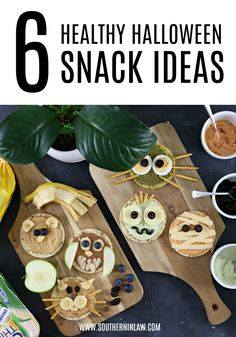 These Healthy Halloween Snack Ideas are so easy to make, thanks to Real Foods Corn Thins. Move over rice cakes and boring toppings. Shake up your lunch or afternoon snack with Real Food's Corn This and these 6 delicious topping ideas.