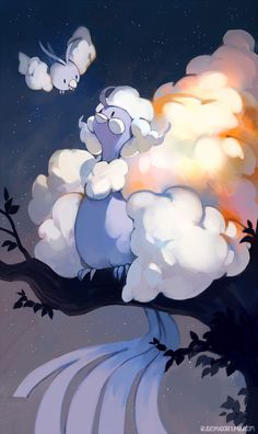 I know everyone is super excited about new mega pokemon but I wish they also made some new normal evolutions too… I wanted to make Altaria's cloud wings look like they emit light, not sure if it worked?