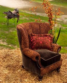 Calamity Janeu0027s Trading Co.like This Upholstery Idea For Wingback Chair