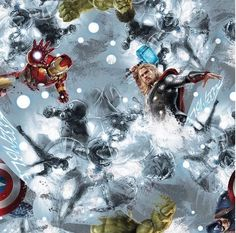 Springs Creative Marvel Avengers Gray Toss Cotton Woven Fabric