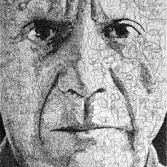 Written Text Portraits by Anatol Knotek