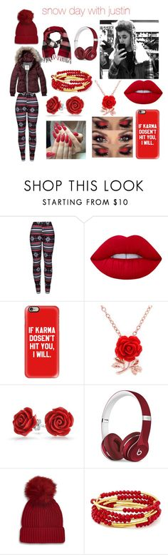 """""""💕💕snow day with justin 💕💕"""" by belieber64 ❤ liked on Polyvore featuring beauty, Abercrombie & Fitch, WithChic, Lime Crime, Casetify, Bling Jewelry, Justin Bieber, Beats by Dr. Dre, Topshop and Chrysalis"""