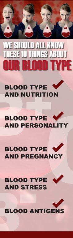 WE SHOULD ALL KNOW THESE 10 THINGS ABOUT OUR BLOOD TYPE!