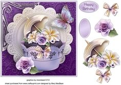 Pretty cupcake Decoupage Card Front on Craftsuprint - View Now!