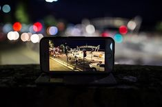 The beautiful scenery of Surfers Paradise at night seen through the little screen Australia