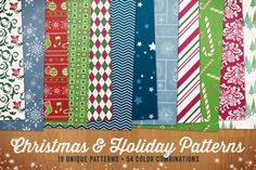 Christmas & Holiday Patterns Vol 1 by Design Panoply on Creative Market