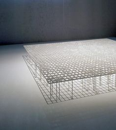 "Photo from the MoMA exhibition ""A Japanese Constellation: Toyo Ito, SANAA, and Beyond."" Junya Ishigami, Kanagawa Institute of Technology Workshop, Atsugi, Kanagawa, Japan, 2005-2008"