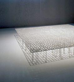 "Photo from the MoMA exhibition ""A Japanese Constellation: Toyo Ito, SANAA, and Beyond."" Junya Ishigami, Kanagawa Institute of Technology Workshop, Atsugi, Kanagawa, Japan, 2005-2008"