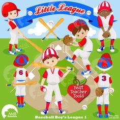 Baseball Clipart, Sports Clipart, Baseball Boys Clip Art,