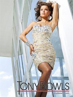 2013 Tony Bowls Short Dress TS11262 at Peaches Boutique