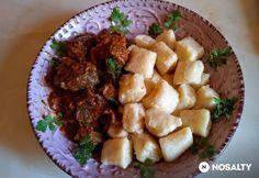 Hosszan főtt marhapofapörkölt gnocchival