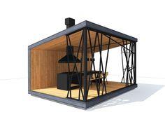 современная беседка Backyard Seating, Garden Seating, Outdoor Garden Rooms, Outdoor Living, Cafe Shop Design, House Design, Courtyard Design, Container Buildings, Pergola Designs
