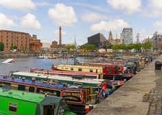 https://flic.kr/p/yjKUMC | Colourful canal boats | It's lovely to see the Albert Dock full of colour these days now that the canal boats can pass through.