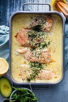 Jag tror inte man kan ha för många olika recept på fisk i ug Love Food, A Food, Food And Drink, Fish Dishes, Seafood Dishes, Fish Recipes, Seafood Recipes, Healthy Recepies, Zeina