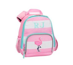 6021f9b75d6 Fairfax Pink/White Stripe Backpack Striped Backpack, School Shopping, Pink  White, Big