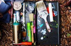 Holla @mi_moegram self proclaimed mess maker!  And check out her work with @homie_haus  #art #streetart #artgallery #artist #vscocam #denver #milehigh #color #community #illustration #starvingartist #exploreeverything #2016 #painting #fall #screenprint #screenprinting #followme #Rino #denverartist #5280 #denverart #contemporaryart #odessadenver #odessatribe