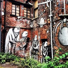 A great piece of Street Art by Phlegm (photo by @lordcroker on IG) #socialsheffield #sheffield