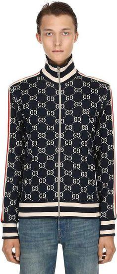 4a438e929 Gg Supreme Logo Zip-Up Track Jacket Supreme Logo, Gucci Fashion, Gucci Men