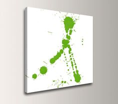 Lime Green Wall Decor lime green wall paint color white decals stickers decor | design