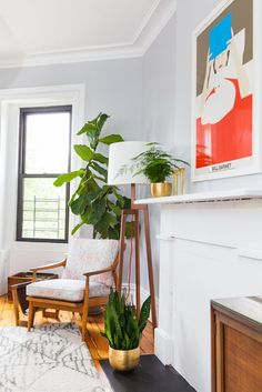 15 Adorable Plant Pictures That Will Give You Life #refinery29 http://www.refinery29.com/pictures-of-plants#slide-1 On a mantel, in front of a mantel and beside a mantel — to cover all of your bases.