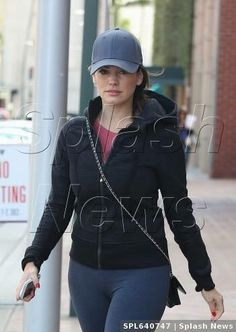 Kelly Brook wearing Gents Charcoal Directors Cap out in Beverly Hills, CA. #KellyBrook #GentsCo #Hat