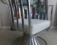 Mid Century Russell Woodard Aluminum Chair Modern 1960s Palm Beach Chic