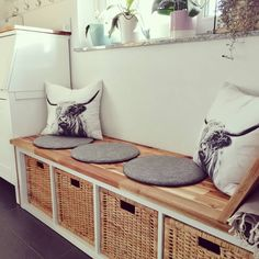 Living Room Storage, Living Room Decor, Ikea Hall, Narrow Hallway Decorating, London Living Room, Minimalist Room, Bench With Storage, Aesthetic Room Decor, Living Room Inspiration