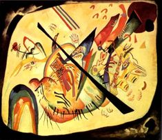 Painter Wassily Kandinsky. Painting. White Oval. 1919 year