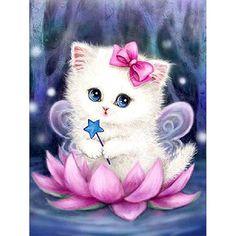 Cartoon Cat – Simple DIY Diamond Painting Kits - Cats and Dogs House Cat Wallpaper, Cartoon Wallpaper, Cute Animal Drawings, Cute Drawings, Meme Chat, 5d Diamond Painting, Cute Baby Animals, Cat Art, Cute Cats