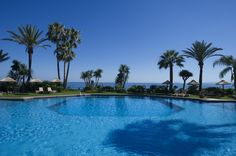 The outdoor pool of #Healthouse with view to Gibraltar! www.healthouse-naturhouse.com