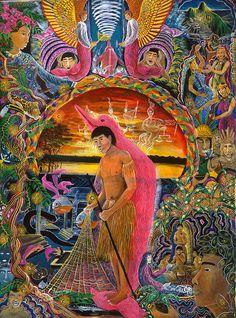 Pablo Amaringo Painting - Supai Pucabufeo by Pablo Amaringo
