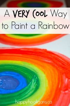 Toddlers and preschoolers will love this technique for painting rainbows. Paint up a bunch, and string them into a garland!